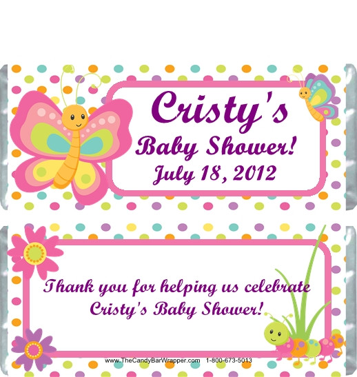home shower candy wrappers baby shower candy wrappers butterfly polka