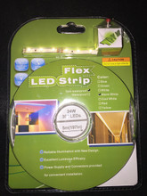 KIT- R0860BA-UL-WW: WARM WHITE LED Flexible LED Strip w/ Power Supply - 16.4ft