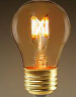 A15 Standard Patio Bulb: A15 (A50) AD-FB-A15-2W-2700K: CLEAR AMBER Cover