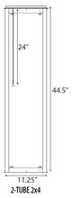 Troffer LED Retrofit Kit-2x4-32W40K (RF32UQT430DL-40K)
