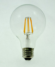 G25 (G80) GLOBE 6W Dimmable CLEAR, Base: E26