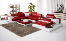 Divani Casa 6137 Modern Red and White Leather Sectional Sofa Special Order