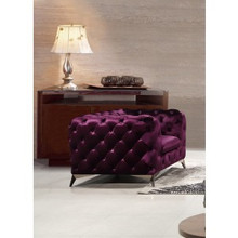 Divani Casa Delilah Modern Purple Fabric Chair