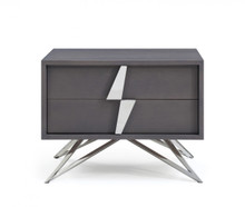 Modrest Nicola Modern Grey Oak Nightstand
