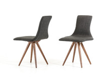 Tracer - Modern Grey Fabric Dining Chair