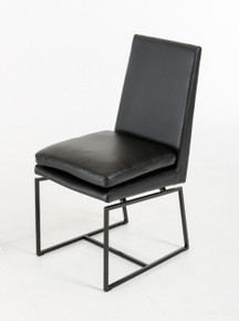 Cadre - Modern Black Leatherette Dining Chair