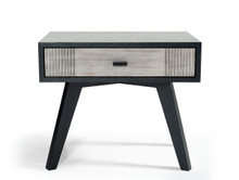 Nova Domus Panther Contemporary Grey & Black Nightstand