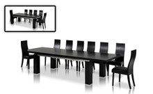 Maxi Modern Black Oak Dining Table