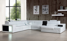 Polaris Contemporary Bonded Leather Sectional Sofa