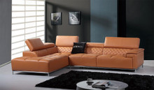 K8482 Modern Orange Italian Leather Sectional Sofa