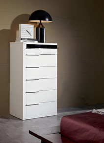 Modrest Impera White Lacquer Bedroom Chest