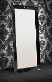 Regal Armani Xavira Black Floor Mirror
