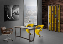 Modrest Clinton Modern Brown Office Desk