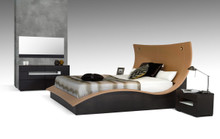 Modrest Hercules Modern Bed w Lights Eastern King
