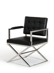 Modrest Spielberg Modern Black Leatherette Dining Chair