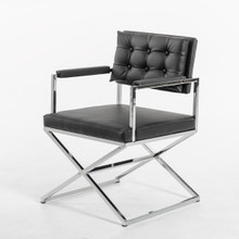 Modrest 4047 Modern Black Leatherette Dining Armchair