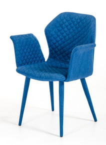 Modrest Astoria Modern Blue Fabric Dining Chair
