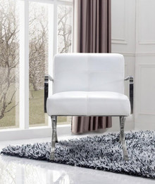 Divani Casa Delano Modern White Leather Lounge Chair