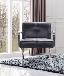 Divani Casa Delano Modern Black Leather Lounge Chair