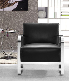 Divani Casa Brizo Modern Black Leather Lounge Chair