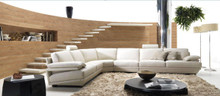 Divani Casa BQ-002 Modern Grey Leather Sectional