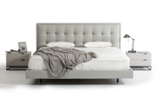 Modrest Hera Modern Grey Leatherette Bed
