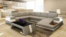 Divani Casa 5100 Modern Bonded Leather Sectional Sofa