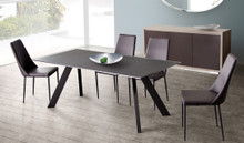 DS Matrix Choco Frosted Glass Dining Table