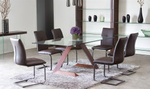 DS Apex Glass Top Dining Table