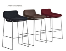 DS A98 Black Chocolate Burgundy Fabric Counter Stool
