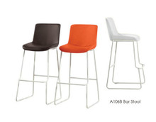 DS A106B Brown White Orange Bar Stool
