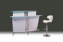 DS HB-04 White Black High Gloss Bar Table