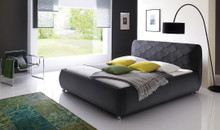 DS Ancona Charcoal Fabric Low Profile Bed
