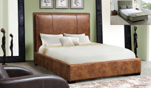 DS Joyce Blended Leather Platform Bed