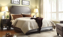 DS Athens Blended Leather Low Profile Bed