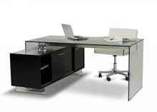 Modrest Alaska Black Oak Office Desk