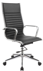 Modrest Madison Modern Black Leatherette Office Chair