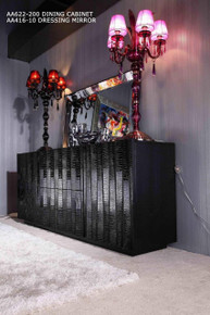 A&X Emphasis Modern Black Crocodile Buffet