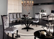 A&X Chic - Round Crocodile Lacquer Table