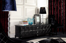 A&X Monte Cristo - Black Crocodile Lacquer Entertainment Center