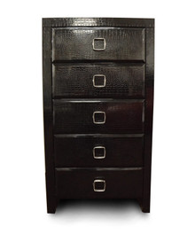 A&X Glam - Modern Black 5 Drawer Chest