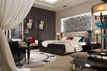 A&X Bellagio - Luxurious Transitional Crocodile Lacquer Bed
