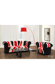 Twisty Floor Lamp Red w/ Black Base