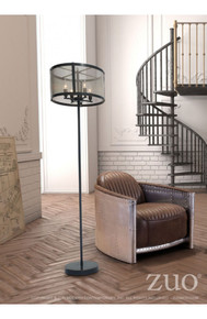 Scottsdale Floor Lamp Antique Black Gold