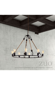 Galena Ceiling Lamp Rust & Natural