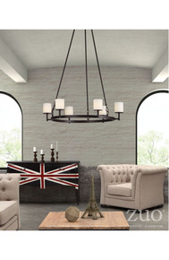 Gibbsite Ceiling Lamp Rust & Frosted White