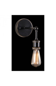 Miserite Wall Lamp Antique Black Gold & Copper