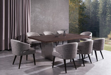 Modrest Lexington Modern Brown Oak Dining Table