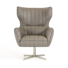 Divani Casa Kylie Modern Grey Eco-Leather Accent Chair