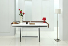 Modrest Branton Contemporary White & Walnut Office Desk